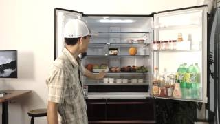 Tinhte.vn | Trên tay tủ lạnh Mitsubishi WX71: lịch lãm và thông minh