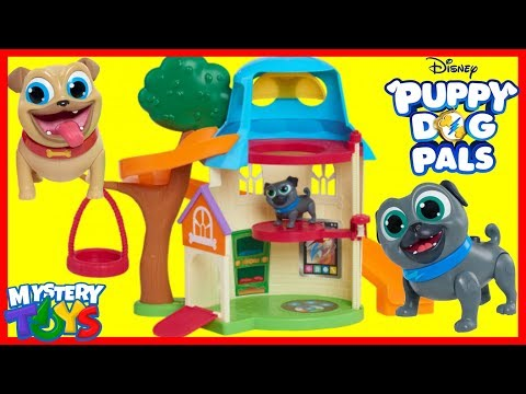 Disney Junior PUPPY DOG PALS DOGHOUSE PLAYSET Rolly Bingo Hissy ARF Pup Toy Surprises
