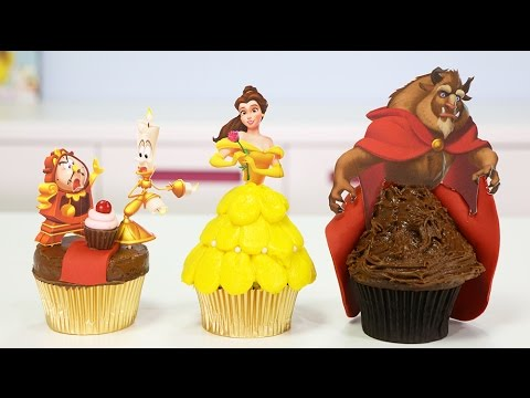 BEAUTY AND THE BEAST CUPCAKES with Disney Magic Kingdoms Game
