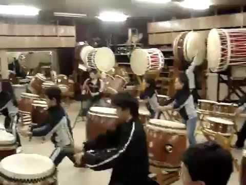 Ishindaiko treino no Japão