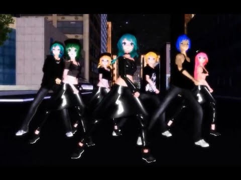 {MMD} HipHop Dance Group] Ievan Polkka Remix - Miku, Mikuo, Kaito, Gumi, Luka, Rin, Len HD