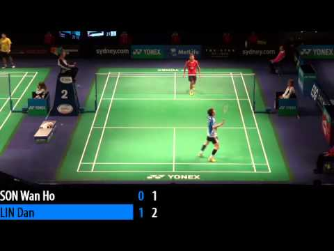2014 THE STAR AUSTRALIAN BADMINTON OPEN - QF - MS - Lin Dan vs Son Wan Ho