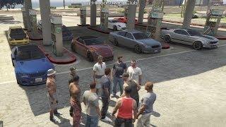 Grand Theft Auto V Online (PS3) Street Car Meet Pt.8