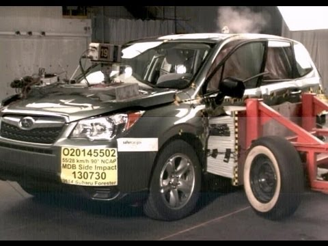 2014 Subaru Forester | Side Crash Test by NHTSA | CrashNet1