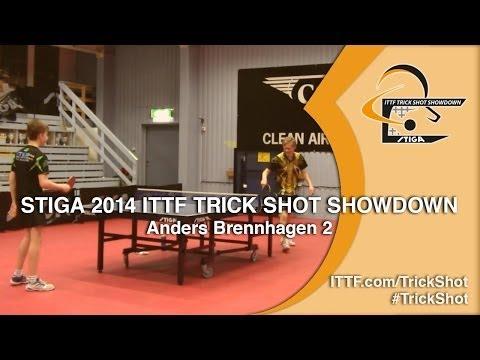 Anders Brennhagen 2 - STIGA 2014 ITTF TrickShot Showdown