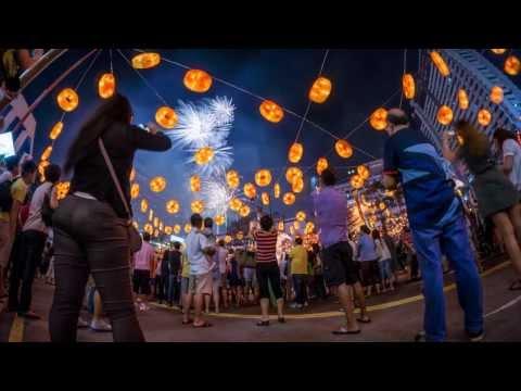 Chinese New Year 2014 Light-Up celebrations Fireworks at Chinatown Singapore