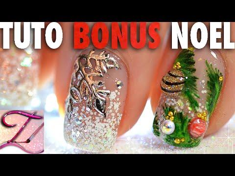 [BONUS] Tuto nail art spécial Noël : sapin et ses boules 3D, flocon de neige miroir