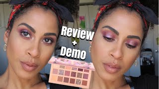 HUDA BEAUTY THE NEW NUDE PALETTE | REVIEW + DEMO | kinkysweat