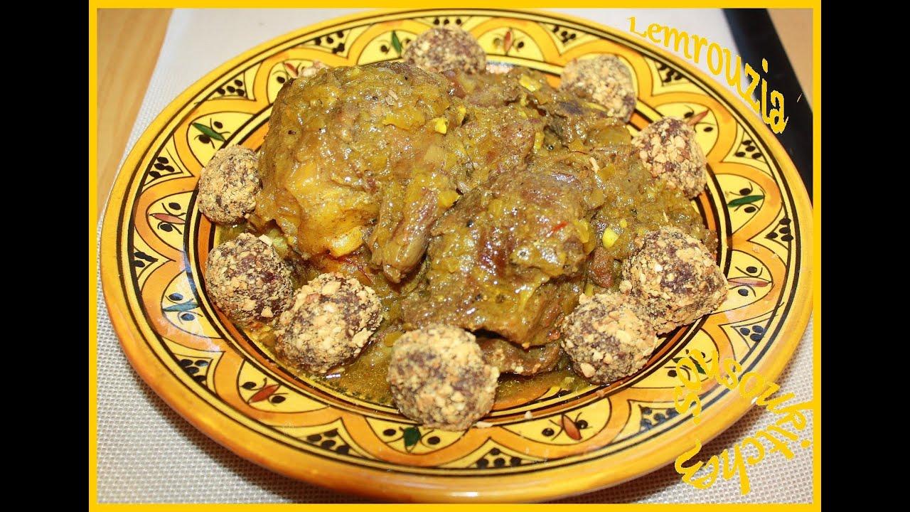 Mrouzia with dates cuisine marocaine mrouzia aux dattes - Cuisine choumicha youtube ...