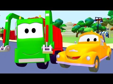 Odťahovák a smetiarske auto