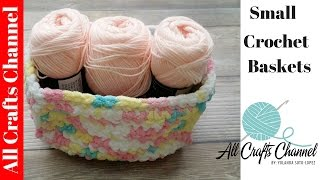 Easy To Crochet Storage Containers