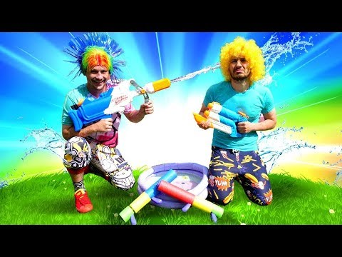 Nerf Gun Games: Water Guns Fight with Nerf Super Soaker Hydro! Funny Games & Pranks with Water