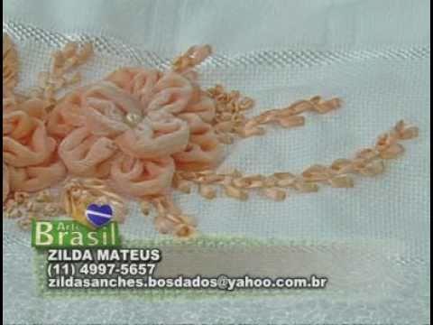 ARTE BRASIL -- ZILDA MATHEUS -- BORDADO DE FLOR ALAMANDA (15/09/2010 - Parte 2 de 2)