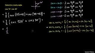 Defaktorizacija trigonometričnih izrazov – naloga 2