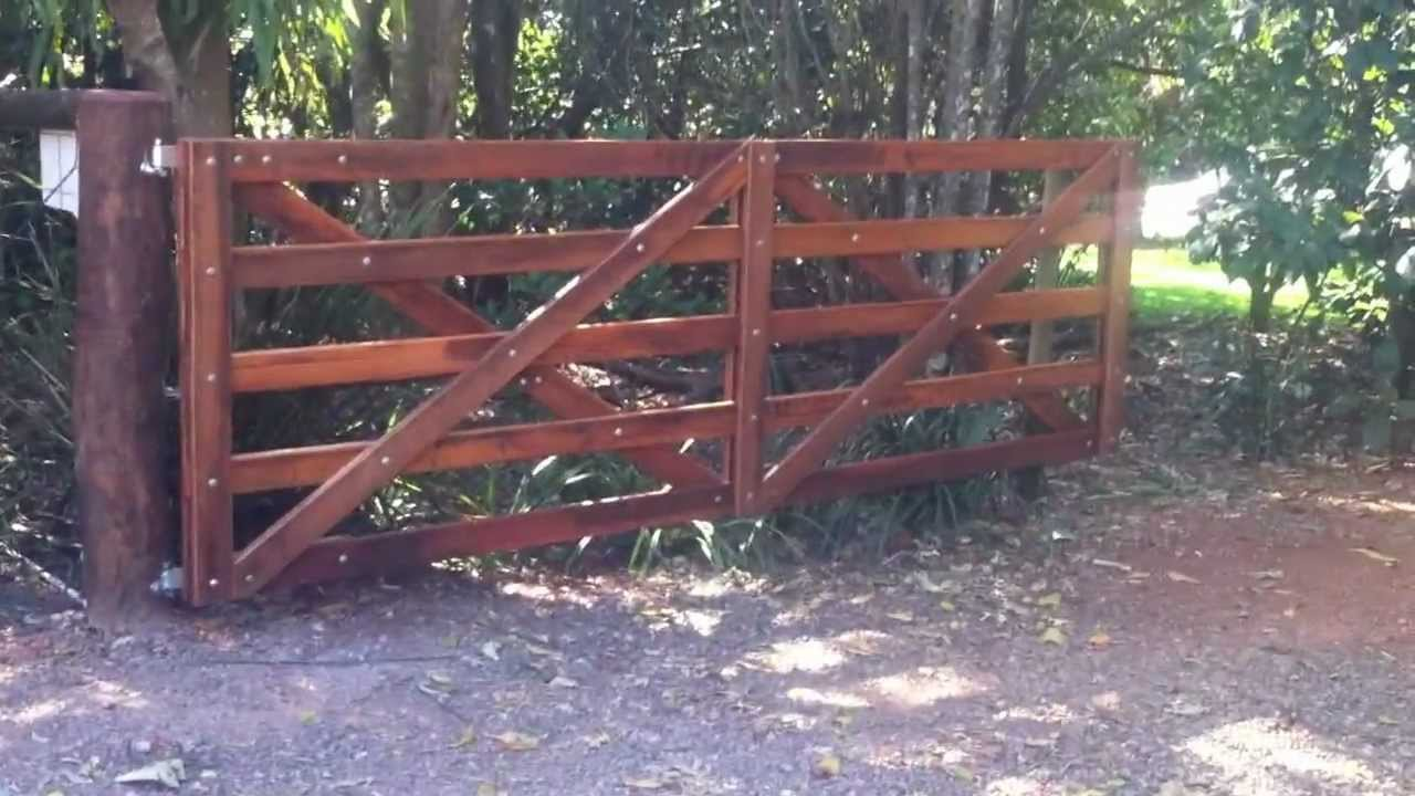 Automatic wooden farm gate youtube