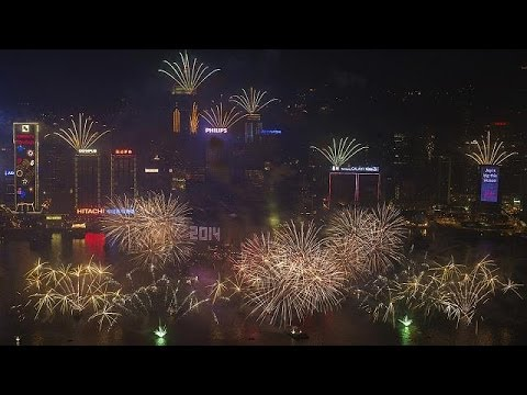 Cities of the world celebrate new year 2014!
