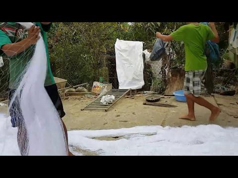 Cách làm lưới bẫy gà rừng -  lưới bẫy gà rừng lh 01642220162