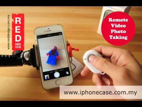 ASHUTB Bluetooth Wireless Remote Smartphone Shutter Photo Video Taking