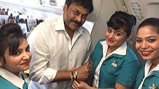 Chiranjeevi Celebrates Raksha Bandhan With Air Hostess