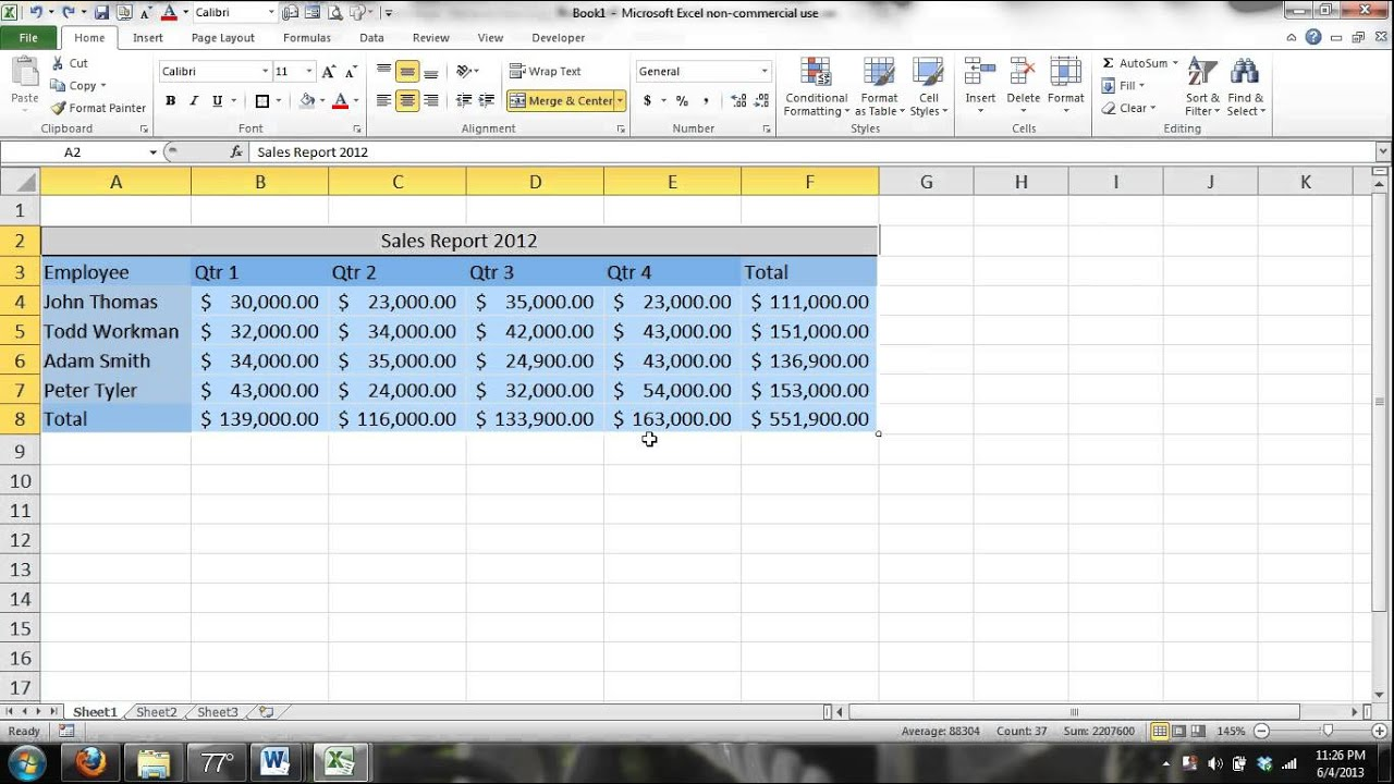 Microsoft Excel 2010 Video Tutorial Free Download