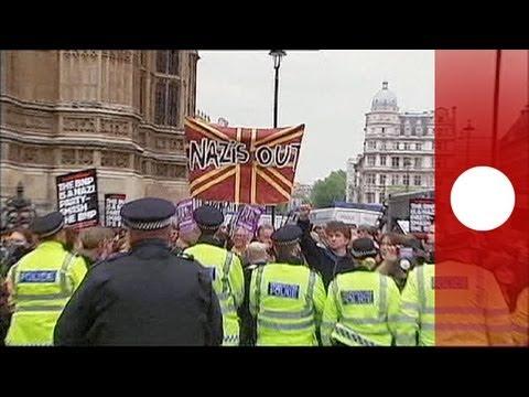 Enfrentamientos entre fascistas y antifascistas en Londres