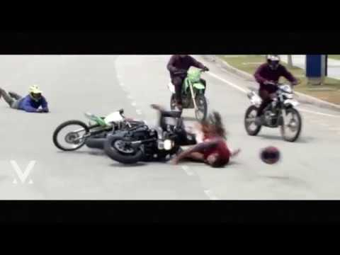 Vishnu Manchu Bike Accident Video in Malaysia | Achari America Yatra