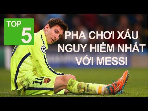 Top 5 pha chơi xấu nguy hiểm nhất với Messi