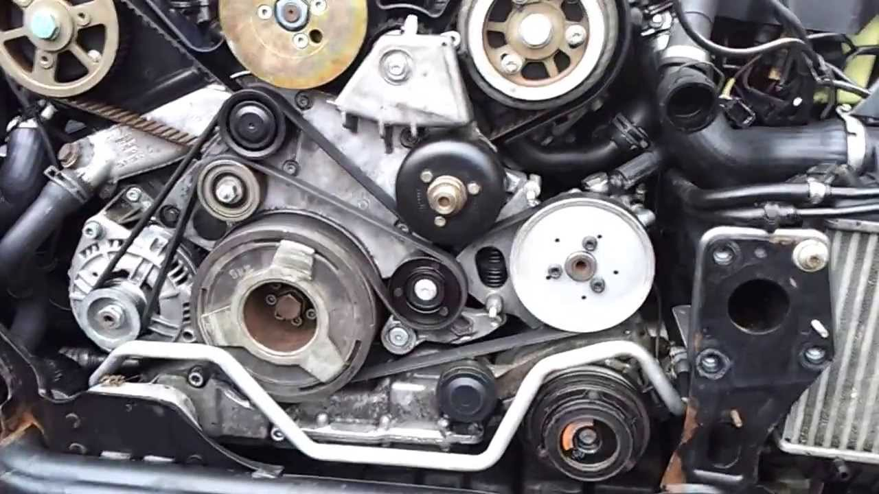 Audi A4 2 5 Tdi Engine Belt Repair Youtube