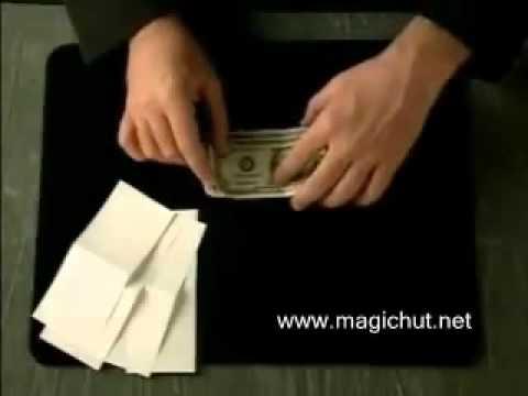 Ảo thuật : biến giấy thành tiền- quá đơn giản