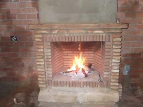 Como hacer una chimenea r stica de ladrillos youtube - Chimeneas de obra ...
