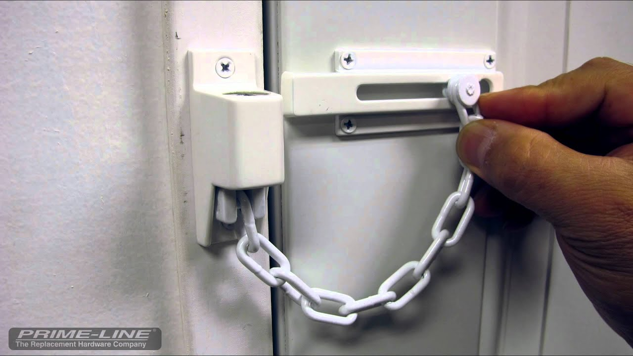 Keyed Chain Door Lock Youtube