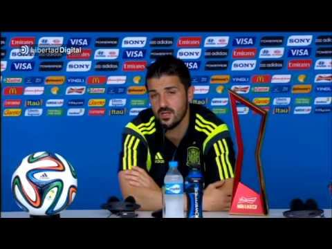 David Villa se despide de la selección española