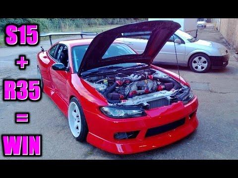 🐒 OMG NISSAN SILVIA S15 WITH R35 GTR ENGINE