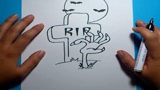 Como Dibujar Una Lapida Paso A Paso 3 How To Draw A