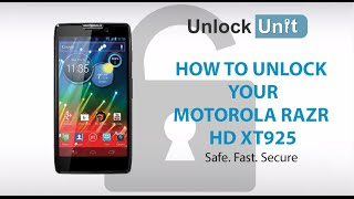 UNLOCK MOTOROLA RAZR HD XT925 HOW TO UNLOCK MOTOROLA