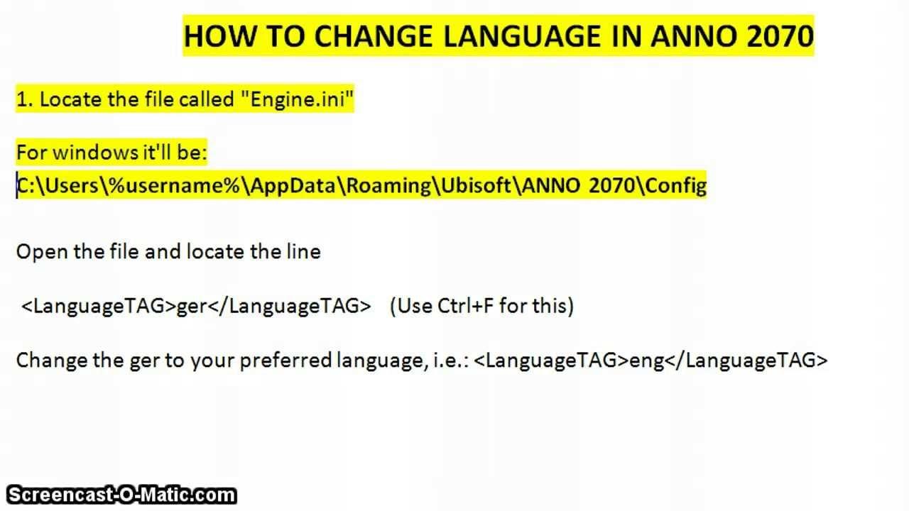 how to change language ubisoft