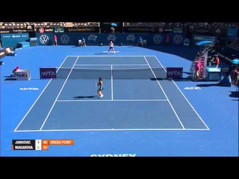 Jelena JANKOVIC (SRB) vs Ekaterina MAKAROVA (RUS) Apia International Sydney 2014 Match Highlights