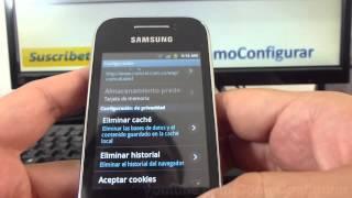 Como Eliminar Historial Navegador Android Samsung Galaxy Y