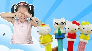 Bad Baby with Tantrum Crying for Pez Candy Finger Family Song ♥ Dâu Tây Channel