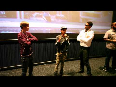 Justin Bieber, Jaden Smith &amp; Usher &quot;Never Say Never&quot; Theater Surprise