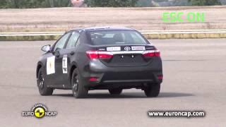 Toyota Corolla ESC test - Euro NCAP 2013