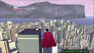 Superman Returns Epic Flying Gameplay Man Of Steel