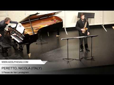 Dinant 2014 - PERETTO, NICOLA (3 Pieces de Van Landeghem)