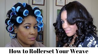 How To Roller Set Your Weave