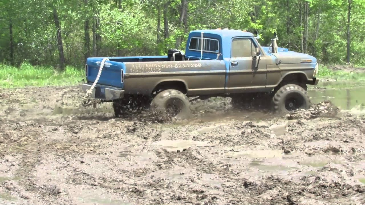 download its about Old Blue Ford Mudding pic