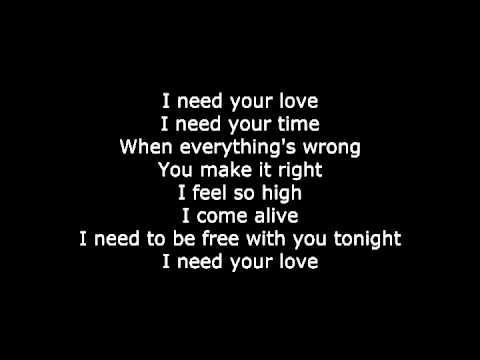 Calvin Harris I Need Your Love Letra De Canci 243 N Song