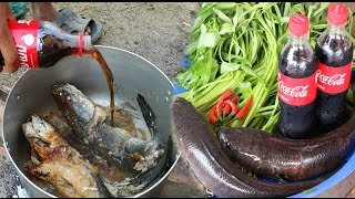 Wow! Amazing Two Boys Cook Fish With Coca Cola For Lunch