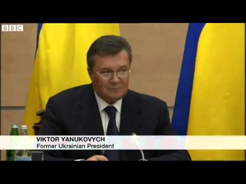 'I'm still president' -- Ukraine's Yanukovych vows to fight back
