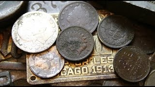 Metal Detecting 100 Year Old Coins @ An 1890's Treasure