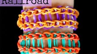 How To Make The Railroad Rainbow Loom Bracelet EASY